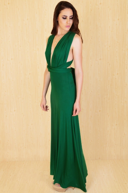 Cadiz Maxi Green - candidly couture - front
