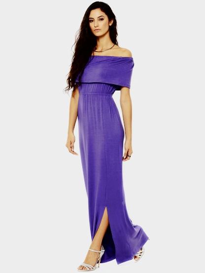 Koovs Purple Maxi Dress