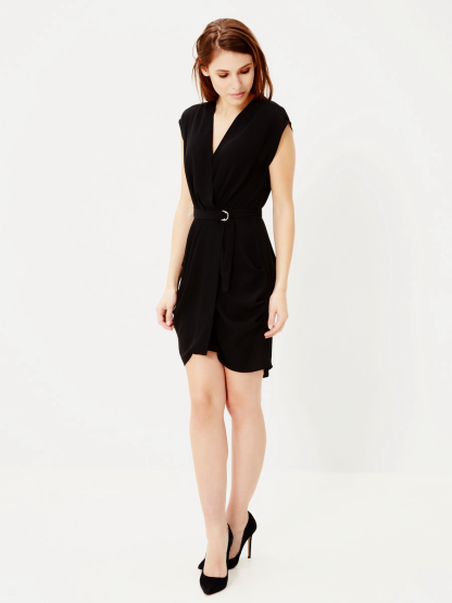 Vero Moda Black Wrap Dress