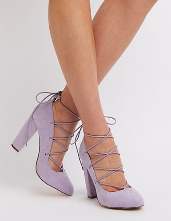 Purple Block heels on Pinterest